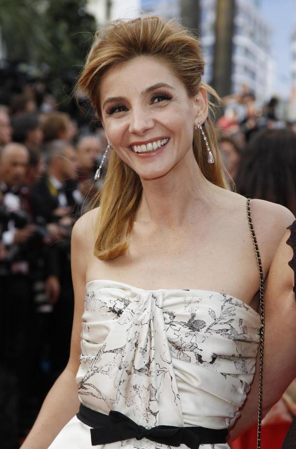 coiffure de Clotilde Courau à Cannes