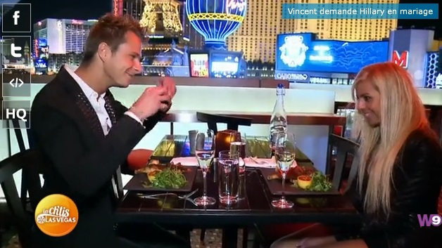 Demande en mariage de Vincent Les Ch'tis à Las Vegas