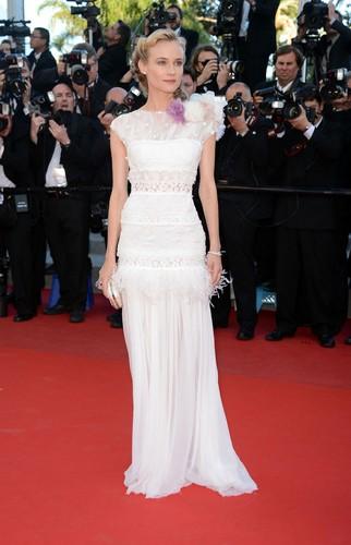 La robe blanche de Diane Kruger à Cannes