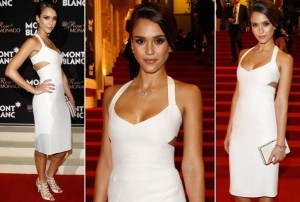 Jessica Alba en blanc sexy