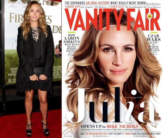 Julia Roberts dans Vanity Fair