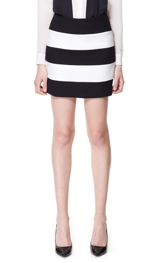 jupe rayée Zara été 2013