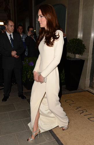 la robe blanche de Kate Middleton