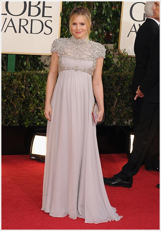Kristen Bell enceinte aux Golden Globes 2013