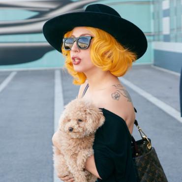 cheveux jaunes de Lady Gaga