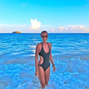 Laeticia Hallyday en vacances
