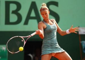 Mathilde Johansson à Roland Garros 2012