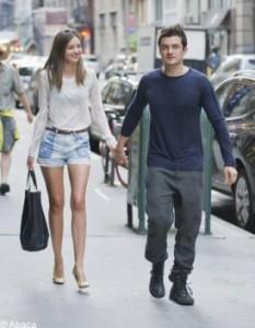 Miranda Kerr et Orlando Bloom amoureux