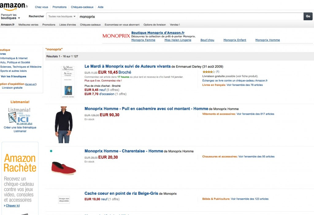 Monoprix Amazon