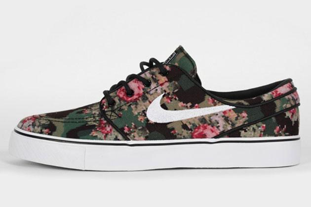 Baskets Nike camouflage fleurs