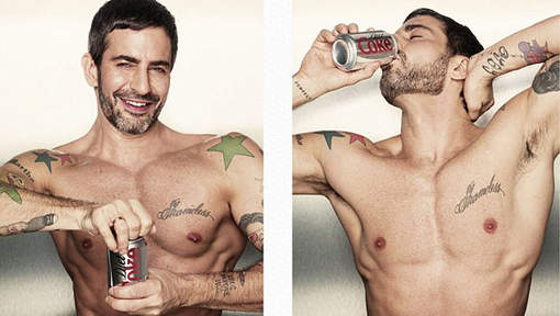 pub Coca-Cola light avec Marc Jacobs