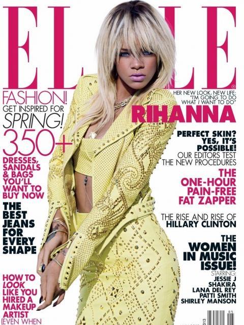 Rihanna pour Elle Us
