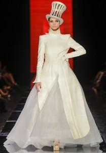 Robe de mariée hiver Jean-Paul Gaultier