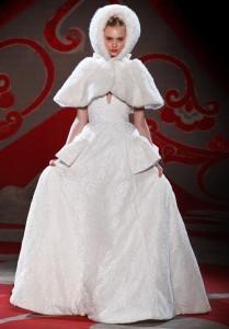 Robe de mariée hiver russe
