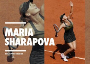 robe noire Sharapova