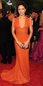 robe orange stars