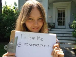 Compte Twitter de Sasha Pivovarova