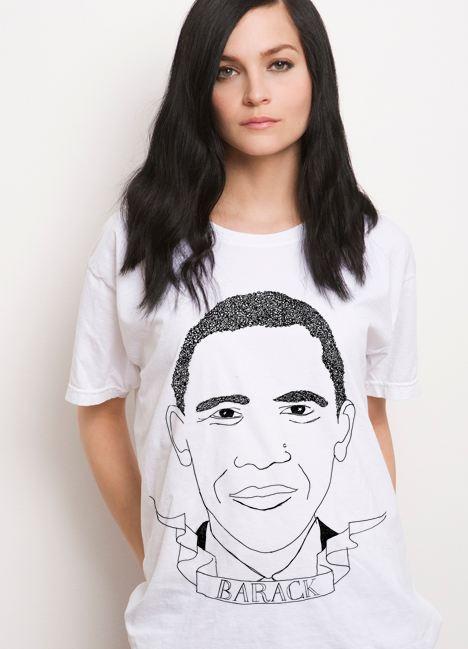 Tee-shirt portrait de people de Deer Dana