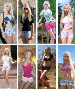 La Barbie Valeria Lukyanova en short