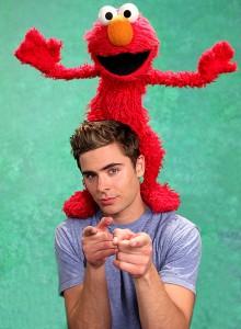 Zac Efron dans Sesame Street